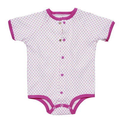 水玉「Babygro with pink polka dots」:スマホ壁紙(2)