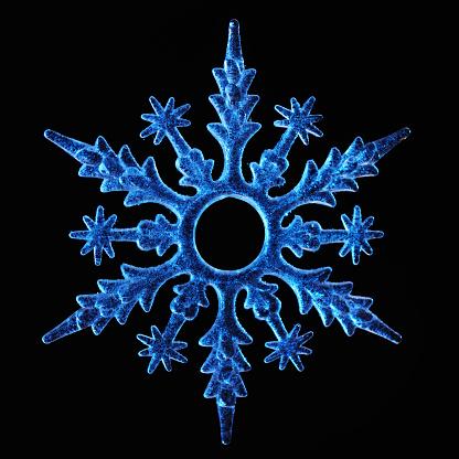 雪の結晶「スノーフレーク」:スマホ壁紙(15)