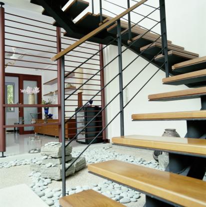 Feng Shui「Rock garden underneath staircase in loft apartment」:スマホ壁紙(16)