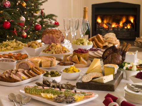 Buffet「Boxing Day Buffet Lunch Christmas Tree and Log Fire」:スマホ壁紙(9)