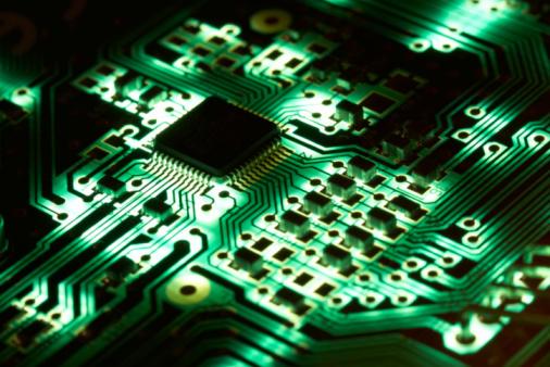 Silicon「Green Computer Chip Technology - Electronics : High Tech」:スマホ壁紙(12)
