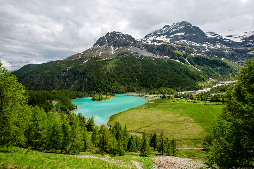 Graubunden Canton「Palu Lake and Bernina Alps, Grisons, Switzerland」:スマホ壁紙(15)