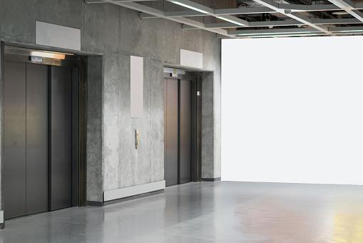 Parking Lot「Elevator door in subway」:スマホ壁紙(8)