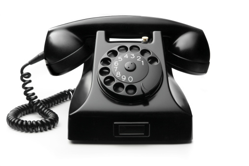 Telephone「Office: Telephone Black Isolated on White Background」:スマホ壁紙(11)