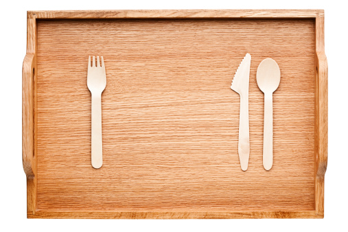 盆「Wooden tray with wooden cutlery」:スマホ壁紙(5)