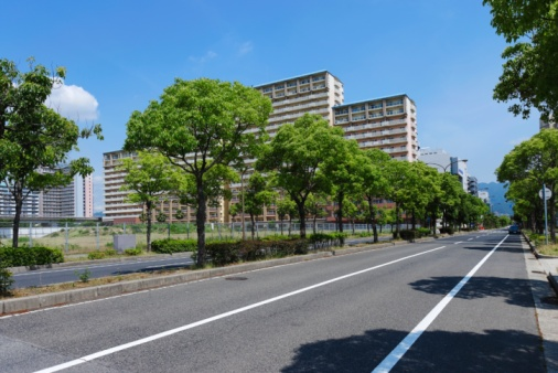 Urban Road「Treelined Street. Kobe, Hyogo Prefecture, Japan」:スマホ壁紙(10)