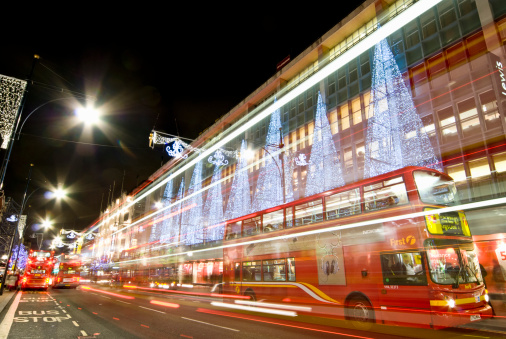 Oxford Street - London「Oxford Street at Christmas, London.」:スマホ壁紙(13)