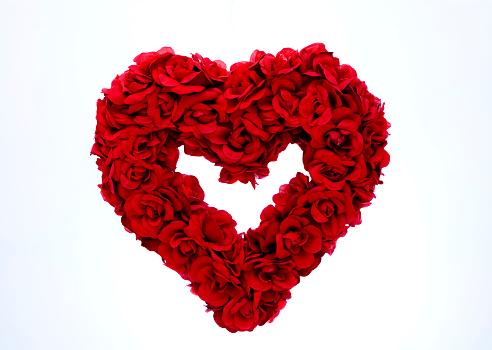 バレンタイン「レッドのローズハート」:スマホ壁紙(1)