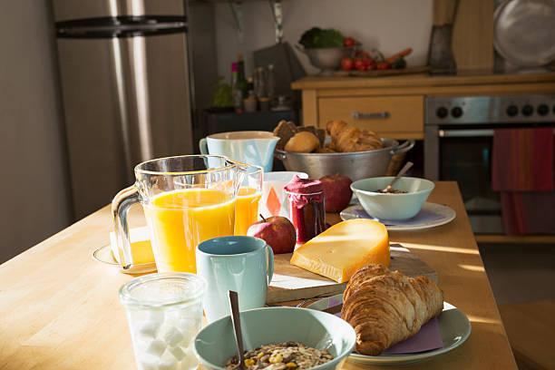 Laid breakfast table:スマホ壁紙(壁紙.com)