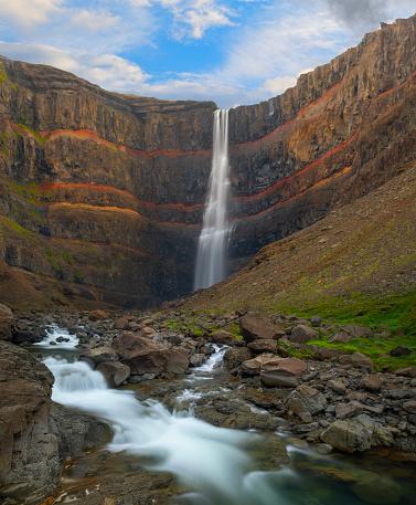 Basalt「Hengifoss Waterfall, Iceland」:スマホ壁紙(18)