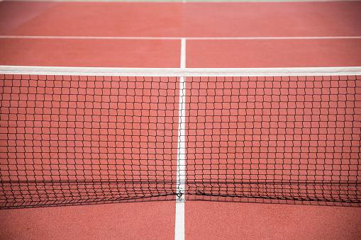 クレイコート「Tennis net on a clay court」:スマホ壁紙(7)