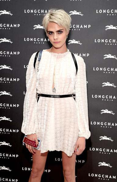 Cara Delevingne「Longchamp And Kendall Jenner Celebrate The Opening Of Longchamp Fifth Avenue Flagship」:写真・画像(13)[壁紙.com]