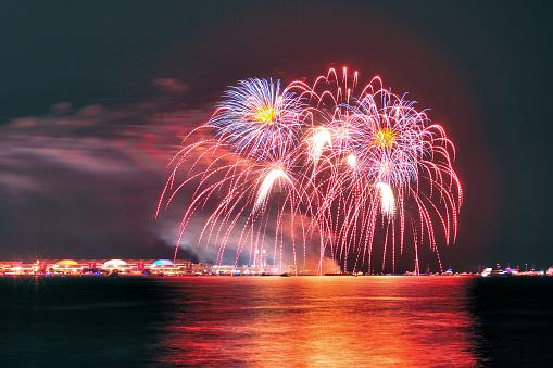 花火「Fireworks above Navy Pier」:スマホ壁紙(19)