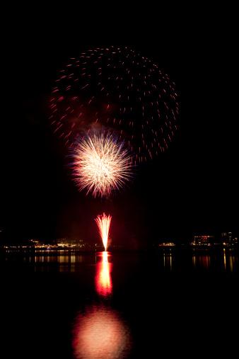 花火大会「Fireworks at Waterfront」:スマホ壁紙(7)
