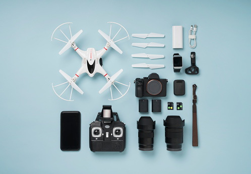 Photography Themes「Drone shooting item knolling style」:スマホ壁紙(0)