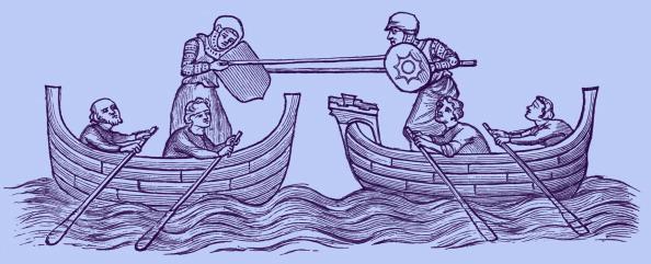 Circa 14th Century「Tilting on the water, early 14th century」:写真・画像(0)[壁紙.com]