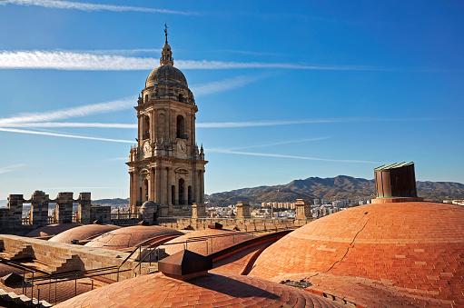 Cathedral「Malaga skyline from Castillo de Gibralfaro」:スマホ壁紙(15)