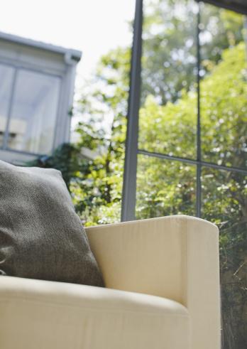 Low Angle View「Cushion on sofa」:スマホ壁紙(4)