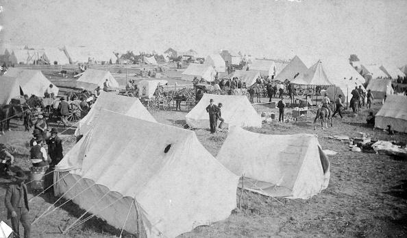 Land「Oklahoma Land Rush:  Active Camp Scene」:写真・画像(3)[壁紙.com]