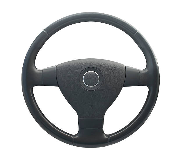 Grey steering wheel with circle in middle on horn:スマホ壁紙(壁紙.com)