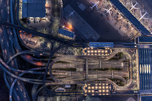 Elevated Road「Ariel view of San Francisco airport」:スマホ壁紙(9)