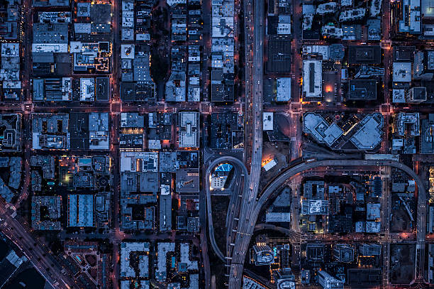 Ariel view of San Francisco, USA at night.:スマホ壁紙(壁紙.com)