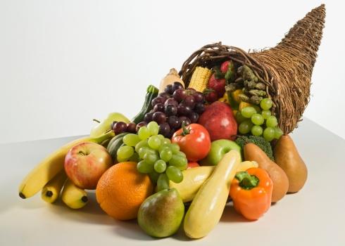 Cornucopia「Fruits and vegetables in cornucopia basket」:スマホ壁紙(19)