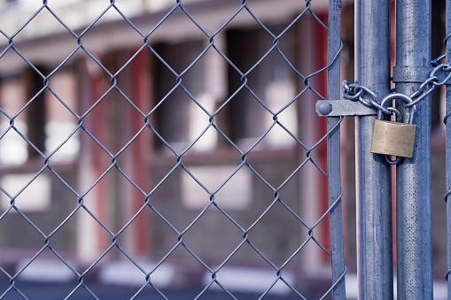 柵「られたホテルチェーンリンクフェンス」:スマホ壁紙(18)