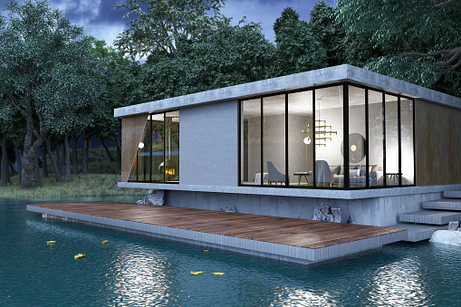 Standing Water「Modern Lake House」:スマホ壁紙(16)