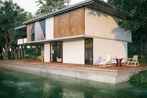 Rainforest「Modern Lake House」:スマホ壁紙(5)