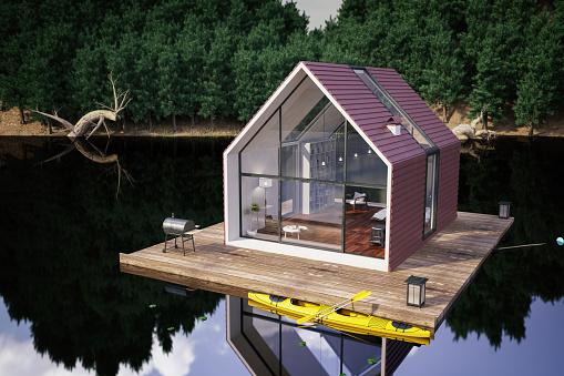 Rainforest「Modern Lake House」:スマホ壁紙(19)