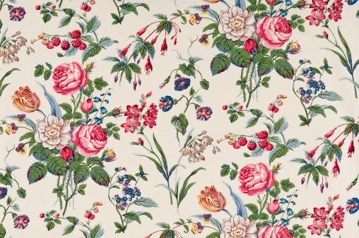Floral Pattern「Garden Delight Medium Antique Floral Fabric」:スマホ壁紙(8)