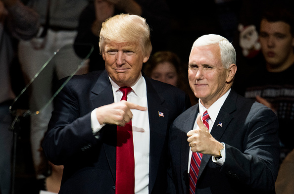 Mike Pence「President-Elect Donald Trump And Vice President Elect Pence Hold Election Victory Rally In Ohio」:写真・画像(17)[壁紙.com]