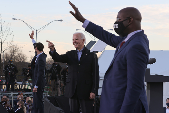 Georgia - US State「President-Elect Biden Campaigns With Democratic GA Senate Candidates」:写真・画像(10)[壁紙.com]