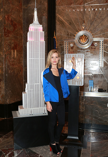 Empire State Building「Georgia May Jagger Illuminates The Empire State Building And Joins Katharina Harf Of Delete Blood Cancer And Founding Corporate Sponsor Coty Inc. To Raise Awareness For The Fight Against Blood Cancer」:写真・画像(19)[壁紙.com]