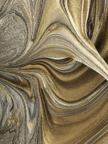 Glitter「Gold and silver marbled paint pattern」:スマホ壁紙(7)
