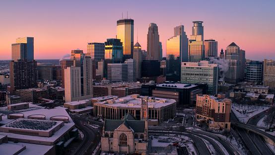Downtown District「Minneapolis Skyline at Dusk」:スマホ壁紙(15)