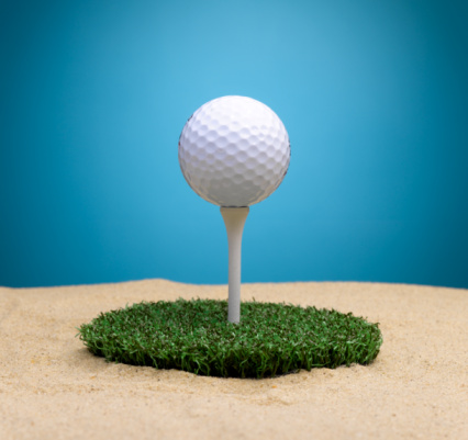 Sand Trap「Golf Ball on Tee Surrounded By Sand Trap」:スマホ壁紙(11)