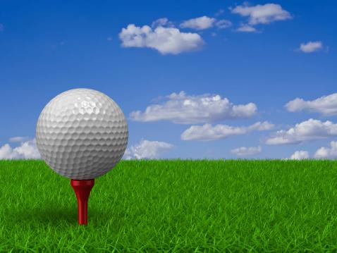 Taking a Shot - Sport「Golf Ball on Grass」:スマホ壁紙(3)