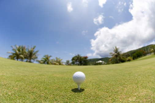 Northern Mariana Islands「Golf ball on grass, fish-eye lens, Saipan, USA 」:スマホ壁紙(11)
