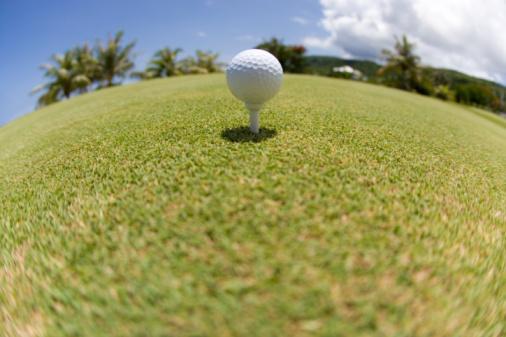 Northern Mariana Islands「Golf ball on grass, fish-eye lens, Saipan, USA 」:スマホ壁紙(16)