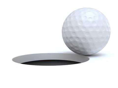 Sports Target「A golf ball on the edge of a hole」:スマホ壁紙(4)