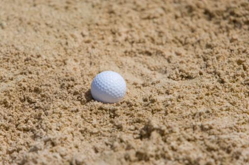 Sand Trap「Golf ball on sand, Saipan, USA 」:スマホ壁紙(9)