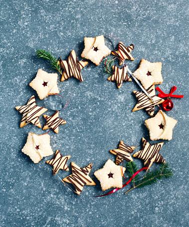 Cookie「Wreath of Christmas cookies」:スマホ壁紙(19)
