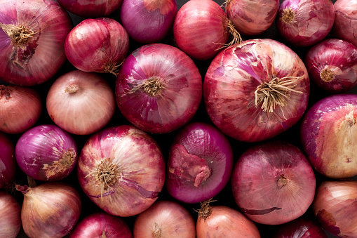 Spanish Onion「Red onions background」:スマホ壁紙(7)