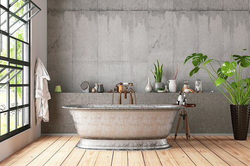 Art and Craft Product「Loft Bathroom with Plants」:スマホ壁紙(4)