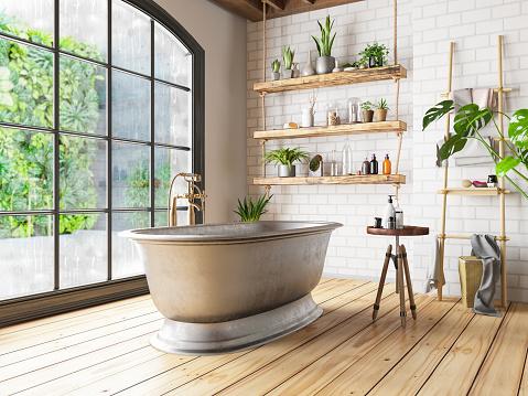Old-fashioned「Loft Bathroom」:スマホ壁紙(2)
