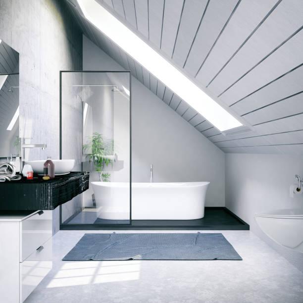 Loft Bathroom:スマホ壁紙(壁紙.com)