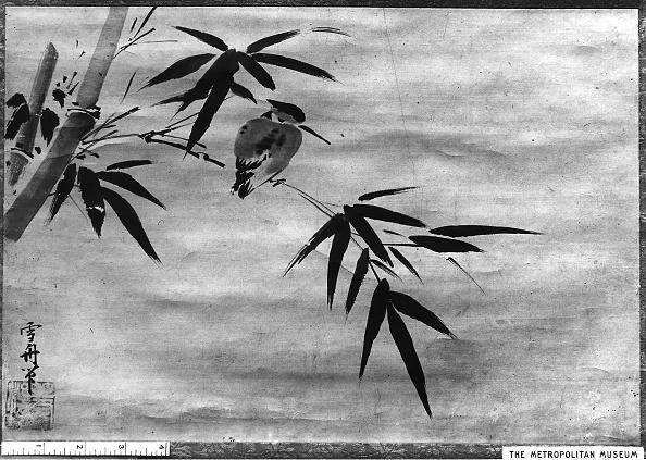 Perching「Bird And Bamboo. Creator: Sesshû Toyô.」:写真・画像(0)[壁紙.com]