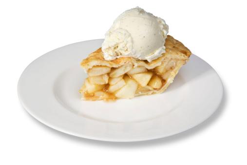アイスクリーム「スライスのアップルパイとアイスクリーム」:スマホ壁紙(3)